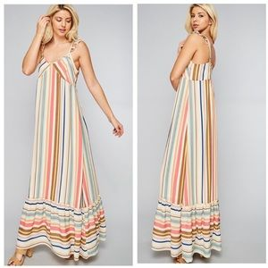KARNI -Striped Cami Strap Maxi Dress